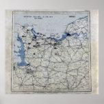 World War II D-Day Map June 6, 1944 Poster