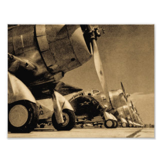 World War II Douglas SBD Dauntless Bomber Planes Photograph