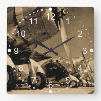 World War II Douglas SBD Dauntless Bomber Planes Square Wall Clock