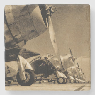 World War II Douglas SBD Dauntless Bomber Planes Stone Beverage Coaster