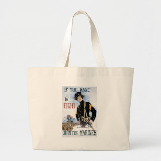 World War II Join The Marines Canvas Bags