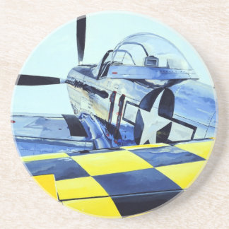 World War II P-51 Mustang fighter Beverage Coasters