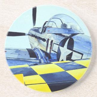 World War II P-51 Mustang fighter Coaster