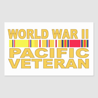 World War II Pacific Veteran Rectangular Sticker