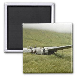 World War II plane wreckage on Atka Island Refrigerator Magnets