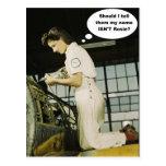 World War II Rosie Factory Worker Design Postcard