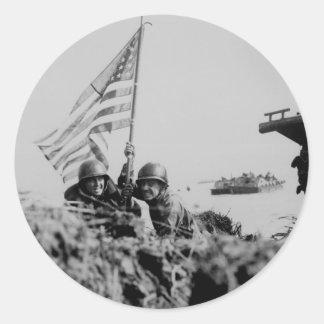 World War II Round Sticker