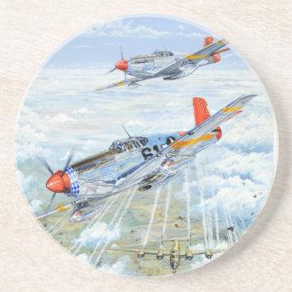 World War II Tuskegee Airman P-51 Mustang Coasters