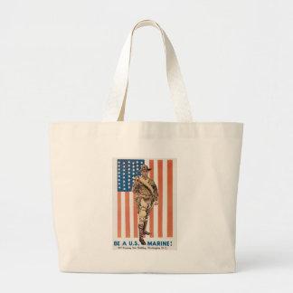 World War II U.S. Marine Canvas Bag