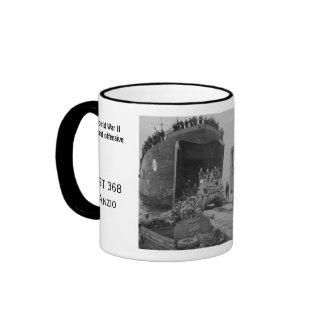 World War II, unloading LST 368 Ringer Coffee Mug