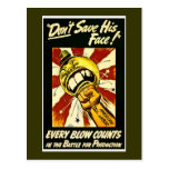 World War II - Vintage - American Labour Post Card