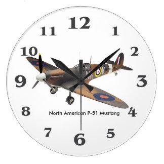 World War ll Aircraft for Round (Large) Wall Clock