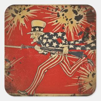 World War One Fourth of July Square Sticker