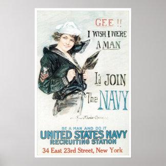 World War One Navy Poster