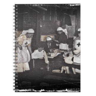 World War One Nurses Aid Station Spiral Note Book