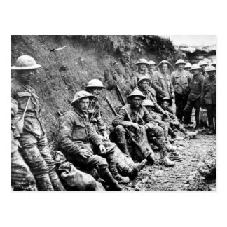 World War One Soldiers in the Trenches Post Card