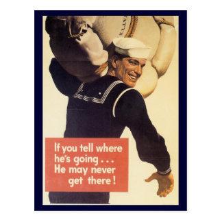 "World War Postcards, ""Loose Lips"" Campaign Postcard"