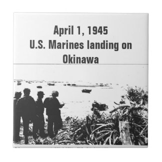 World War Soldiers American History Small Square Tile