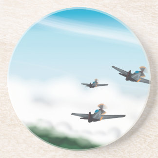 World War Two Aeroplanes Beverage Coaster