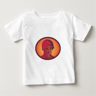 World War Two American Soldier Head Watercolor Tees