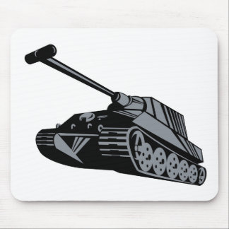 World War two battle tank panzer retro style Mouse Pads