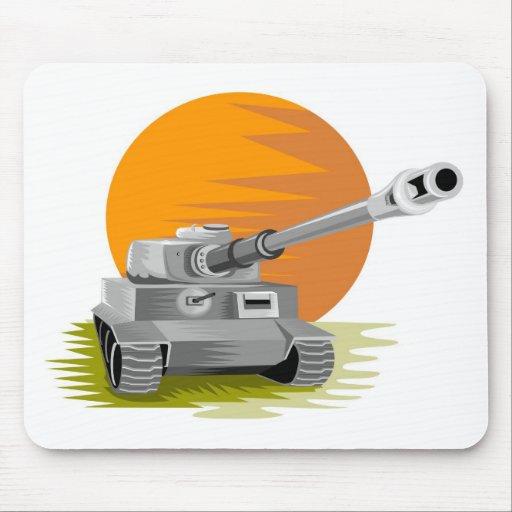 World War two battle tank panzer retro style Mousepad