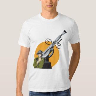World War Two British Soldier Machine Gun Tee Shirts