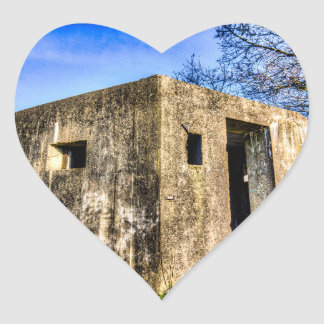 World War Two Bunker Heart Sticker