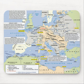 World War Two in Europe Mousemat