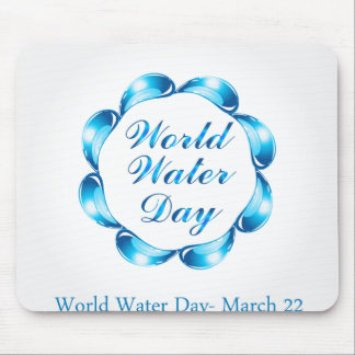 World water day March 22 Mouse Pad