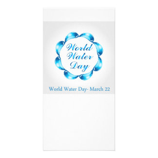 World water day March 22 Photo Card