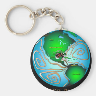 World Wide Crude Basic Round Button Key Ring
