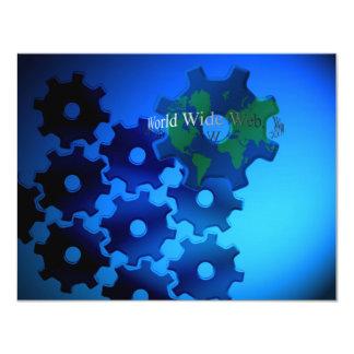 World Wide Web 11 Cm X 14 Cm Invitation Card