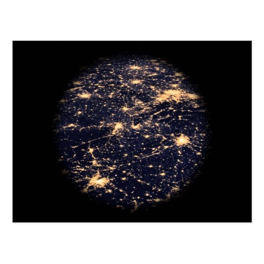 World Wide Web Light Network Postcard