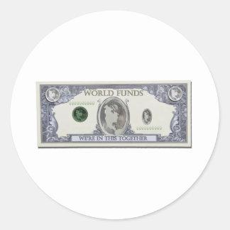 WorldDollars010911 Round Sticker