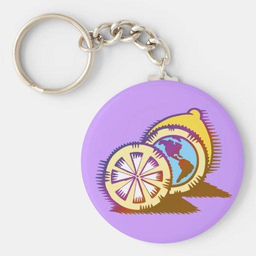 Worldly Lemons Keychain