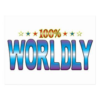 Worldly Star Tag v2 Postcard