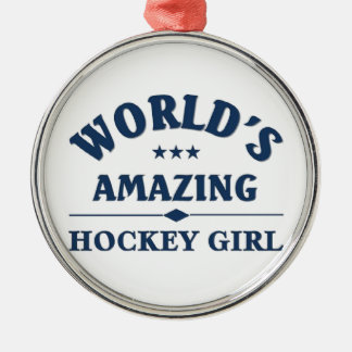 World's amazing Hockey Girl Christmas Ornament