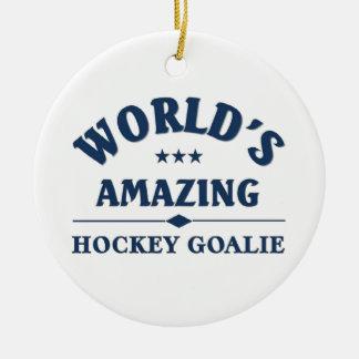 World's amazing Hockey Goalie Christmas Ornament