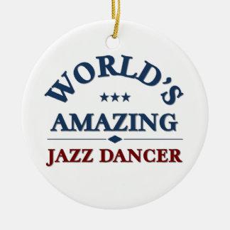 World's amazing Jazz Dancer Round Ceramic Decoration