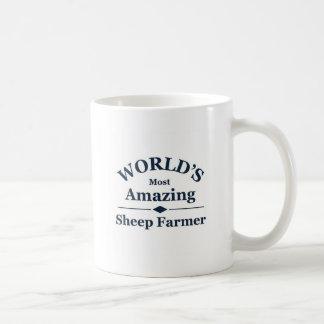 World's amazing Sheep Farmer Basic White Mug