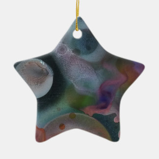 Worlds amongst the cosmos ceramic star decoration