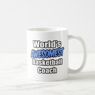 World's Awesomest Basketball Coach Coffee Mugs