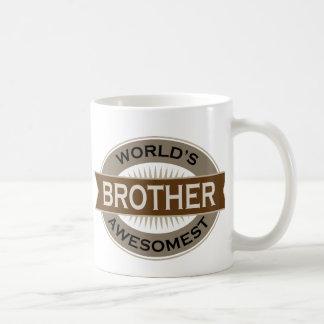 Worlds Awesomest Brother Basic White Mug