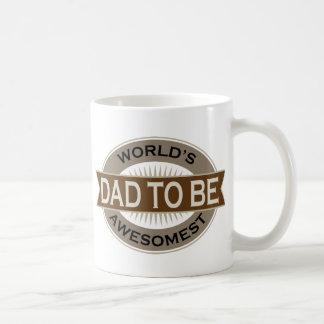 Worlds Awesomest Dad to Be Basic White Mug