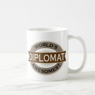 Worlds Awesomest Diplomat Basic White Mug