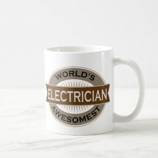 Worlds Awesomest Electrician Basic White Mug