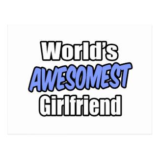 World's Awesomest Girlfriend Postcard