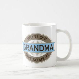 Worlds Awesomest Grandma Basic White Mug