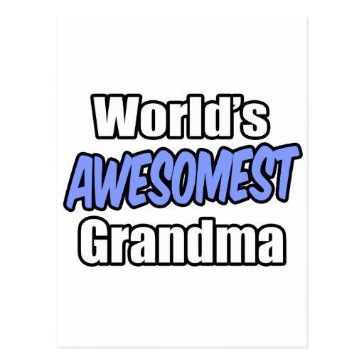 World's Awesomest Grandma Post Card
